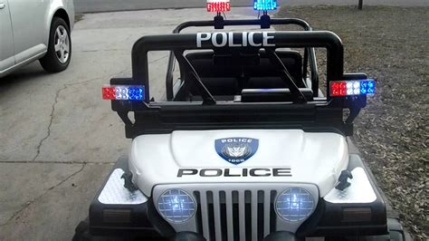 jeep power wheels custom power wheels police jeep dec 2011 youtube