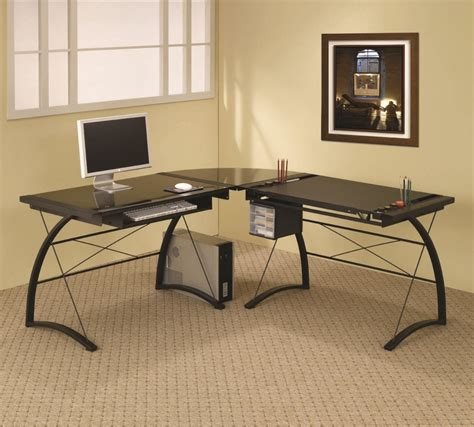computer desks rolling computer desk modern l shaped desk