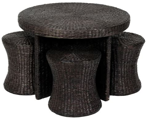 Rattan Coffee Table With Stools rattan coffee table with stools coffee table design ideas