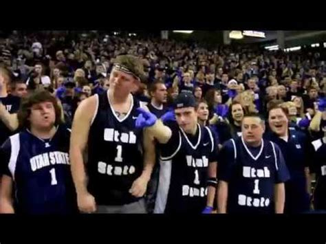 utah state student section wisconsin jump around in student section at c randal