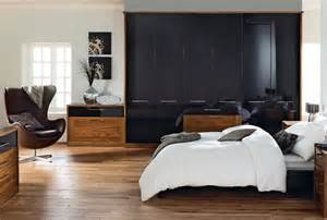 modena black bedroom furniture walnut wardrobes from sharps
