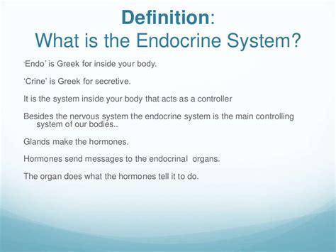 define systemize endocrine system