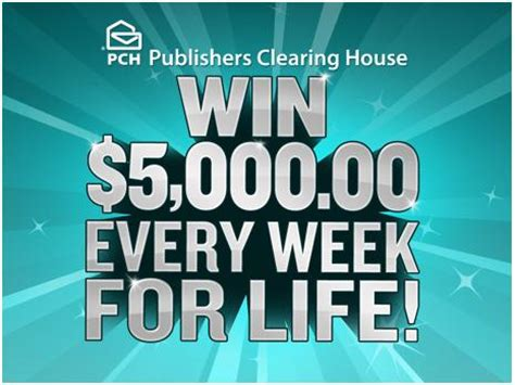 Pch Win 5000 Every Week For Life - win 5000 a week for life