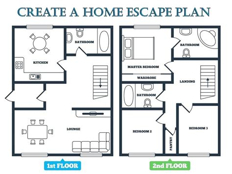 Fire Escape Plan For Home Tips To Creating A Home Fire Escape Plan Sle Fire Escape Plan For Evacuation Floor Plan Template