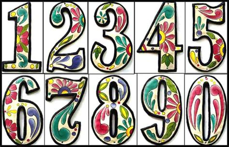 decorative house numbers painted metal address numbers decorative house numbers hand painted metal 4 1 2