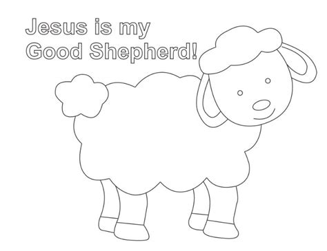 coloring page jesus with sheep shepherd and sheep coloring page lesson five the good