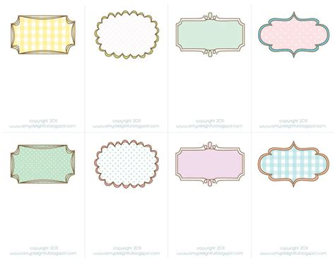 place card template border blank sheek shindigs pretty printable place cards