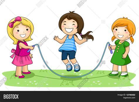 imagenes de niños jugando ala cuerda vector y foto ni 241 os jugando saltar la cuerda en bigstock