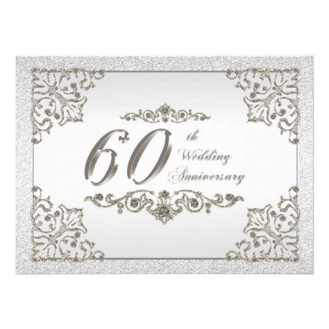 60th Wedding Anniversary by 60th Wedding Anniversary Invitation Card
