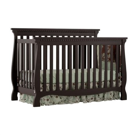 Fixed Side Convertible Crib 4 In 1 Fixed Side Convertible Crib In Black 04587 13b