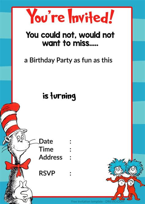 free dr seuss invitation templates best 25 dr seuss invitations ideas on dr