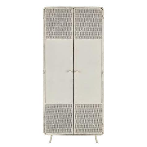 armadio 80 cm armadio bianco in metallo l 80 cm knokke maisons du monde