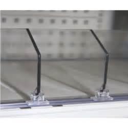 Acrylic Shelf Dividers by 60mm Shelf Divider Various Lengths Shop Supplies