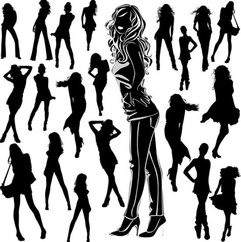 cowgirl silhouette vector free download two beautiful vector silhouettes archives page 3 of 26 vector gallery