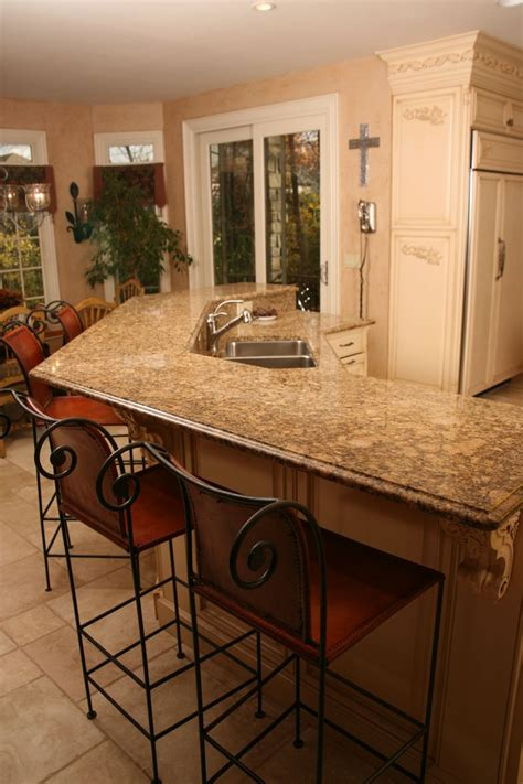 kitchen island with bar top beautiful kitchen island with raised bar top in giallo