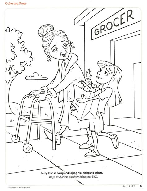 coloring pages kindness happy clean living primary 2 lesson 28