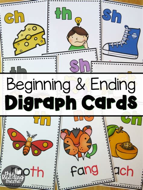 beginning card beginning ending digraph cards this reading