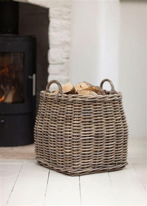 Wicker Log Baskets For Fireplaces by 25 Best Ideas About Wicker Baskets On Baskets