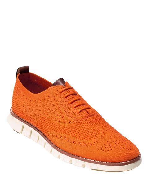 orange oxford shoes lyst cole haan zerogrand stitchlite oxfords in orange