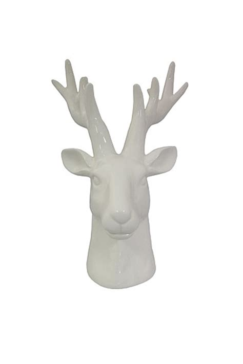 porcelain deer head home decor accessories french country homewares