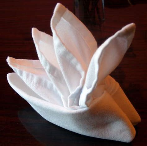 Table Napkin Origami - how to fold napkins for tea tea