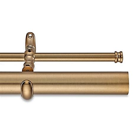 180 inch curtain rod cambria 174 estate double curtain rod bed bath beyond