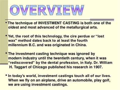 pattern in investment casting investment castings