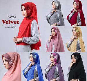 Jilbab Velvet Sequin Syria obral murah jilbab velvet sequin syria