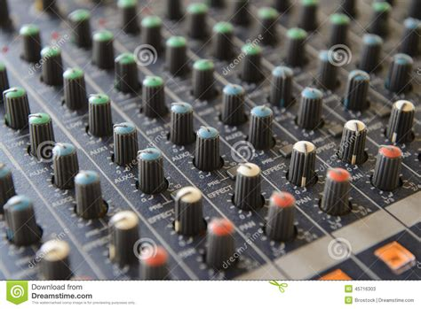 Audio Mixer Belt Up sound mixer board royalty free stock photography