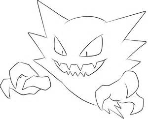 093 haunter lineart by lilly gerbil on deviantart