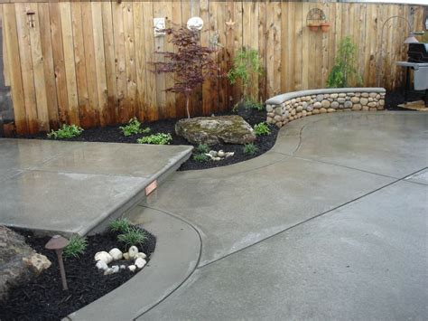 25 best ideas about concrete backyard on