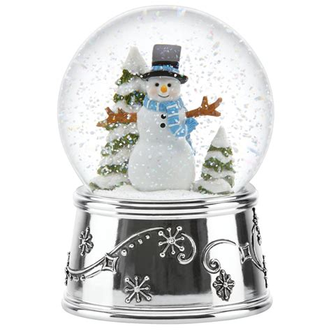 musical snowman snow globe snowflurries snowman snow globe snowglobe by reed and barton