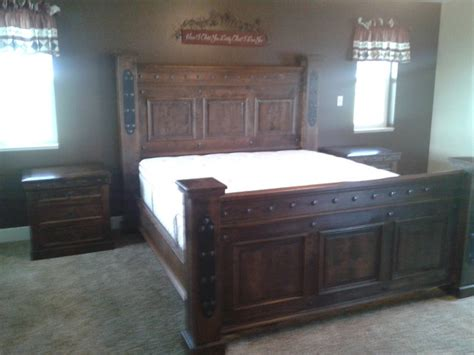 rustic king size bed durango custom king size bed rustic beds denver by