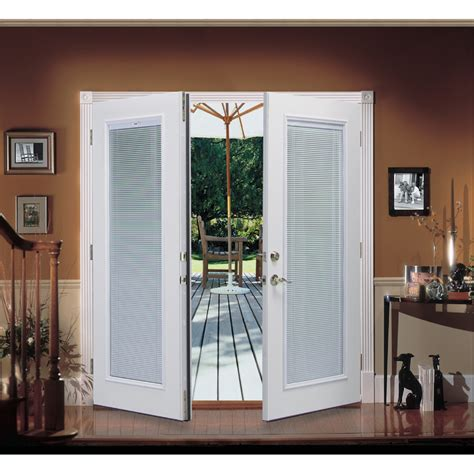 Patio Doors Blinds Inside Shop Reliabilt 174 6 Reliabilt Patio Door Steel Blinds Between The Glass Tilt And Raise