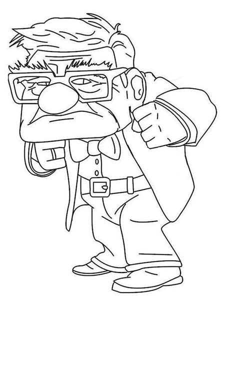 the old man of up coloring pages cartoon coloring pages