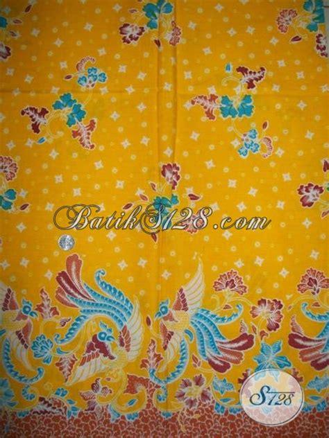 Mukena Batik Kode Mb 223 bahan batik murah berkwalitas motif burung warna kuning