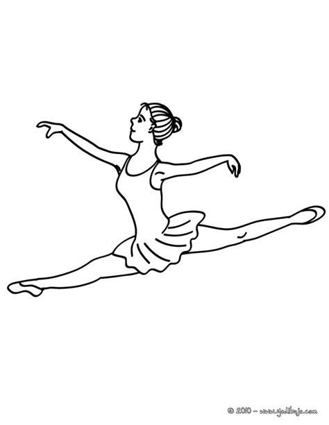 dibujo para colorear una bailarina haciendo un grand jete