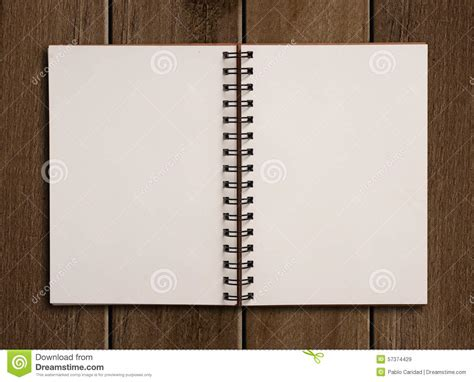 Notebook Wooden Table notebook on wooden table stock photo image 57374429