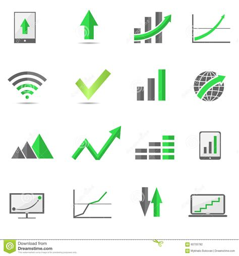 symbol of growth growth symbols stock vector illustration of arrow