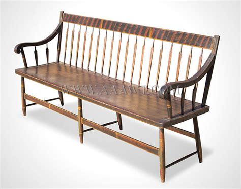 antique windsor bench bench windsor settee paint decorated feature1260