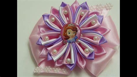 imagenes flores kanzashi como hacer flor kanzashi de tela con perlas mo 241 os y