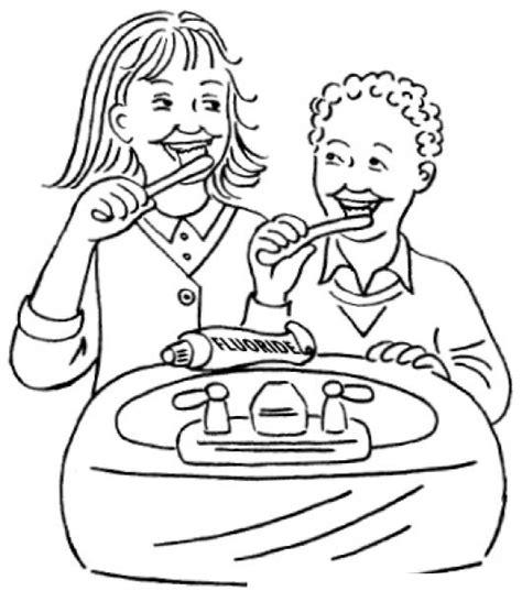 imagenes de niños lavandose los dientes ni 241 os cepillandose colouring pages page 2