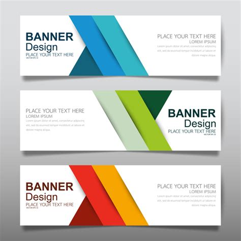 banner design eps file free download vector set of modern banners template design 18 vector