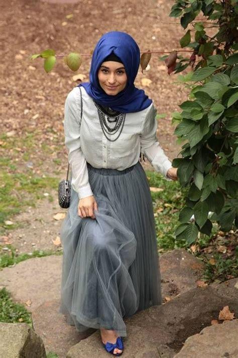 fashion hijab makin imut  rok tutu
