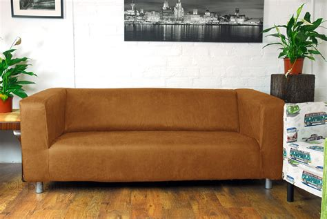 distressed faux leather klippan sofa cover honey hipica