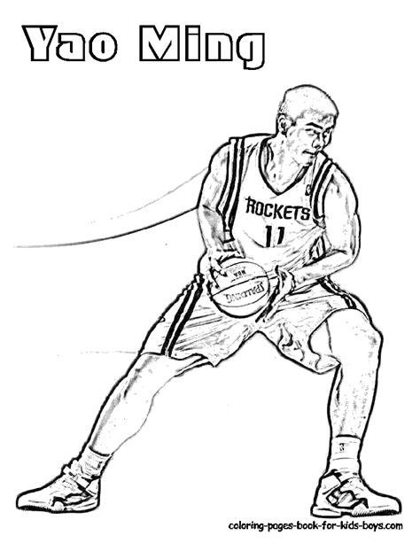 Nba Coloring Pages Coloring Pages For Boys Basketball Teams Printable