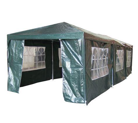 Waterproof Canopy Waterproof Green 3m X 9m Outdoor Garden Gazebo Tent