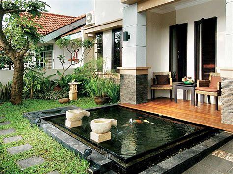 desain taman  kolam ikan kumpulan desain rumah
