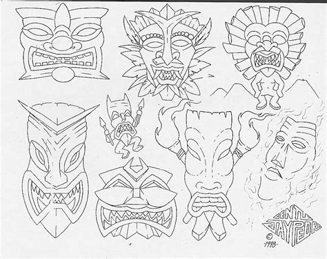 tattoo flash outlines free pin celtic mask on pinterest