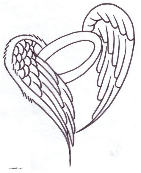 angel wings with halo tattoo designs wing design free designs halo and